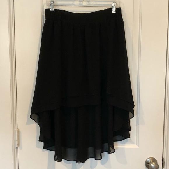 Anthropologie Dresses & Skirts - Black Flowy Skirt Anthropologie